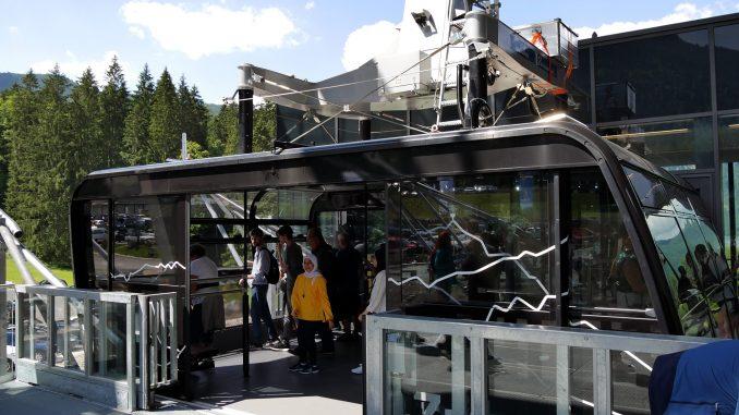 Seilbahn-Kabine der Eibsee-Seilbahn vor Unfall vom 12.9.2018