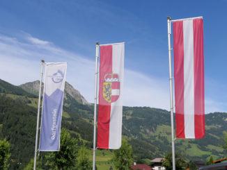 Flagge Österreich - Salzburg