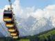 Die Gondeln wurden anlässlich des World Pride Days in Regenbogenfarben beklebt. // Foto: Toni Niederwieser