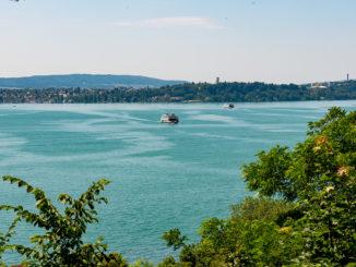 Neue gasbetriebene Autofähre bald auf der Strecke Konstanz - Meersburg am Bodensee.