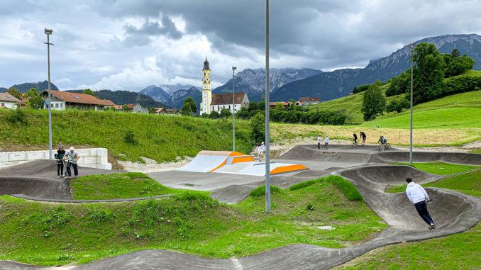 Der neue Skate- und Bikepark in Pfronten. // Foto: Pfronten Tourismus