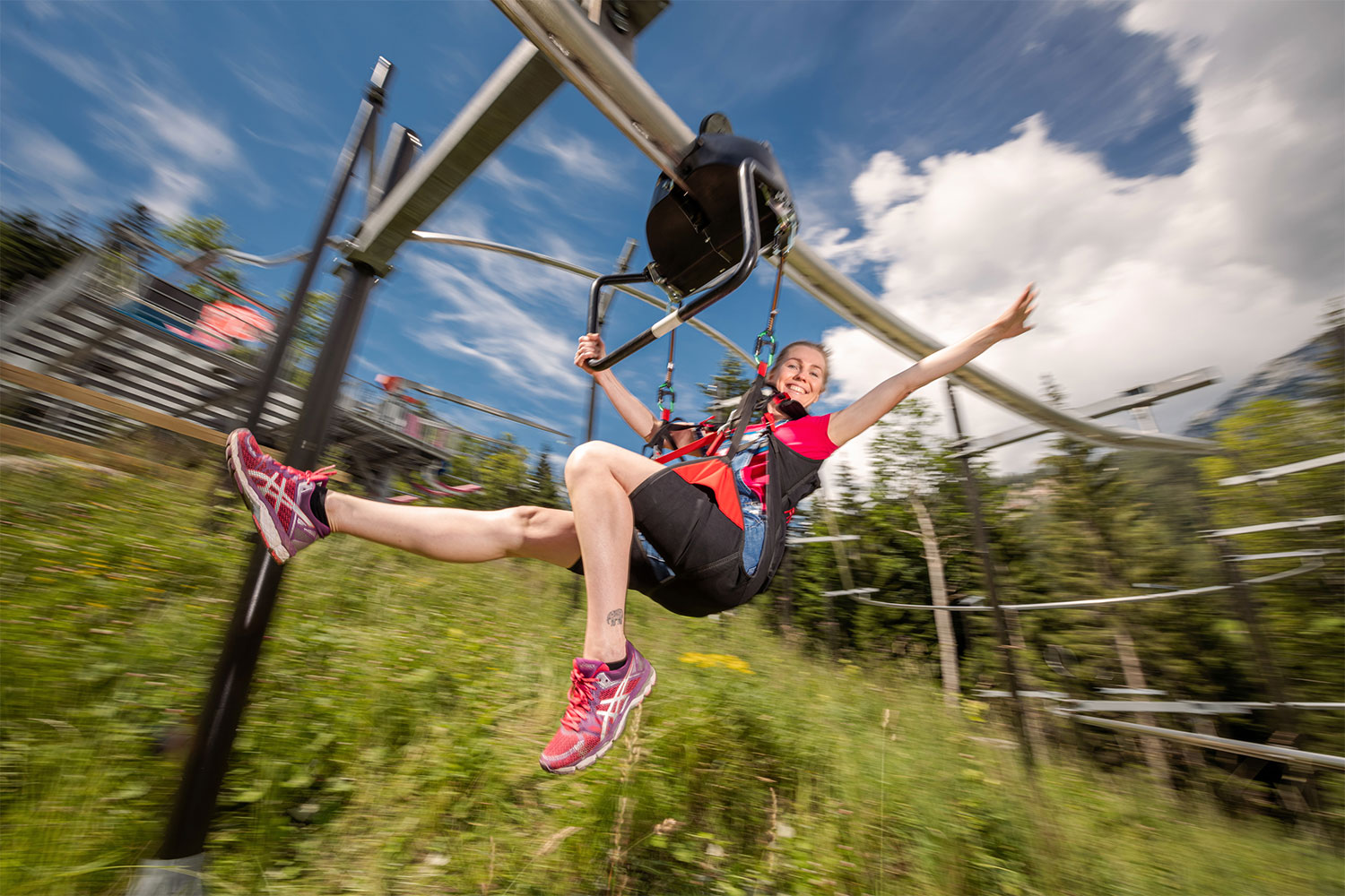 Flying Coaster in Gröbming am Dachstein – Bild: © www.flyingcoaster.at / Christoph Huber