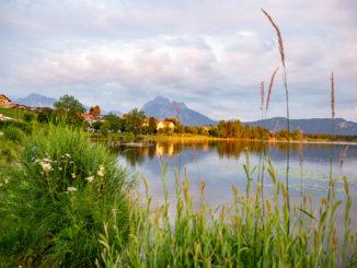 Der Hopfensee im Allgäu ist ein beliebtes Ausflugsziel. // Foto: alpintreff.de - Christian Schön