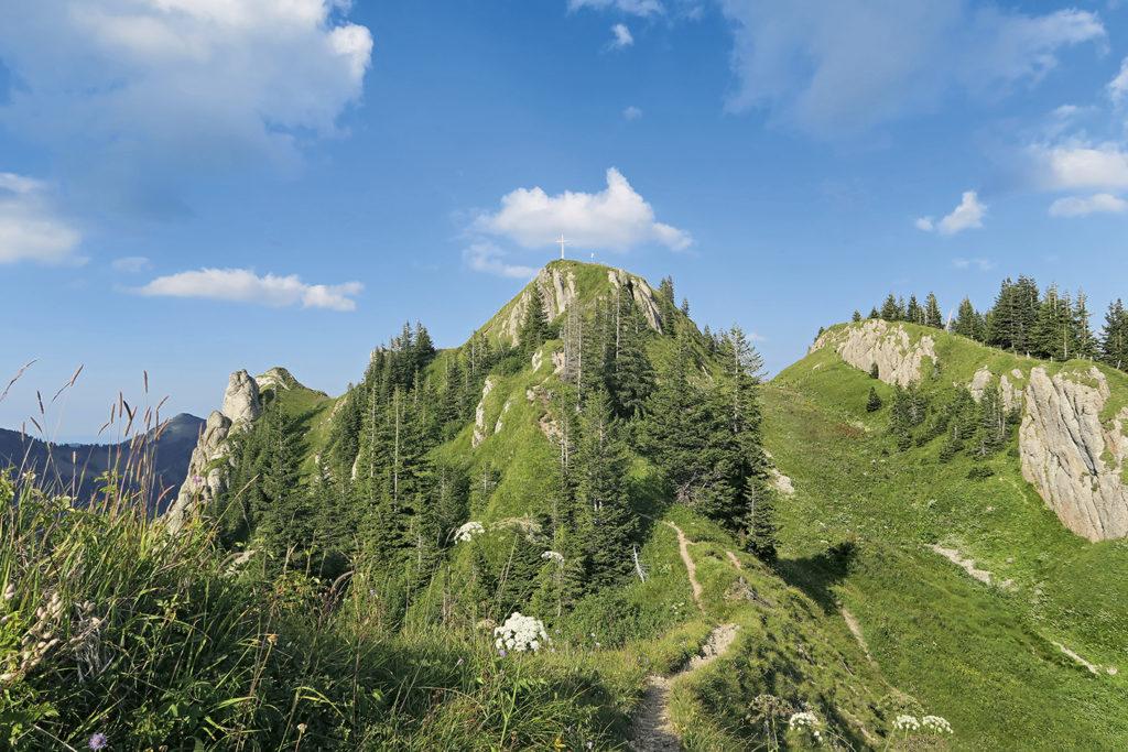 Der Gipfelaufbau des Siplingerkopfs. // Foto: Ulf Streubel und Matthias Schopp