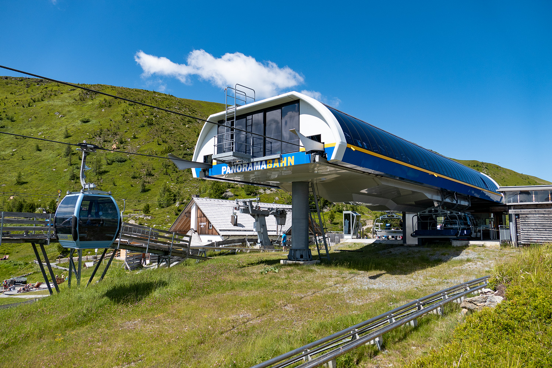 Viele Attraktionen, wie hier die Panoramabahn Turracher Höhe, bietet die Kärnten Card kostenlos. Bild: Christian Schön / alpintreff.de