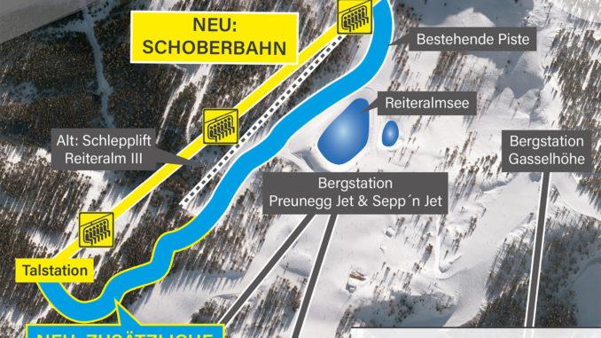 Neu auf der Reiteralm bei Schladming: 6er Schoberbahn sersetzt Schlepplift. Bild: Ski Reiteralm