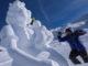 Beim Skifahren zuschauen, wie die besonderen Skulpturen entstehen - ein Highlight! // Foto: TVB Paznaun-Ischgl