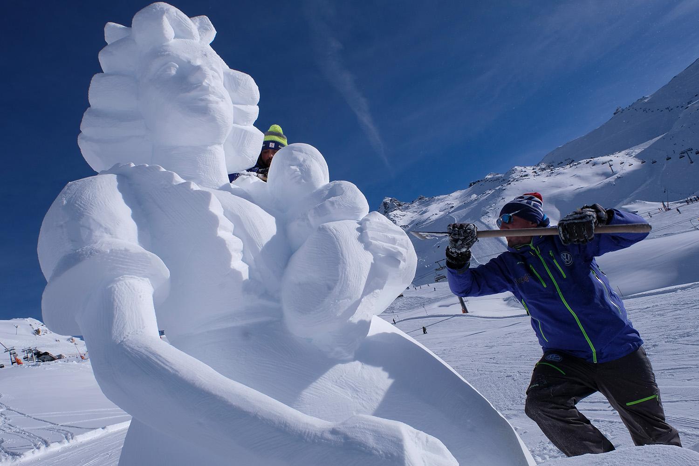 Wintersport-Visionen aus Ischgler Schnee